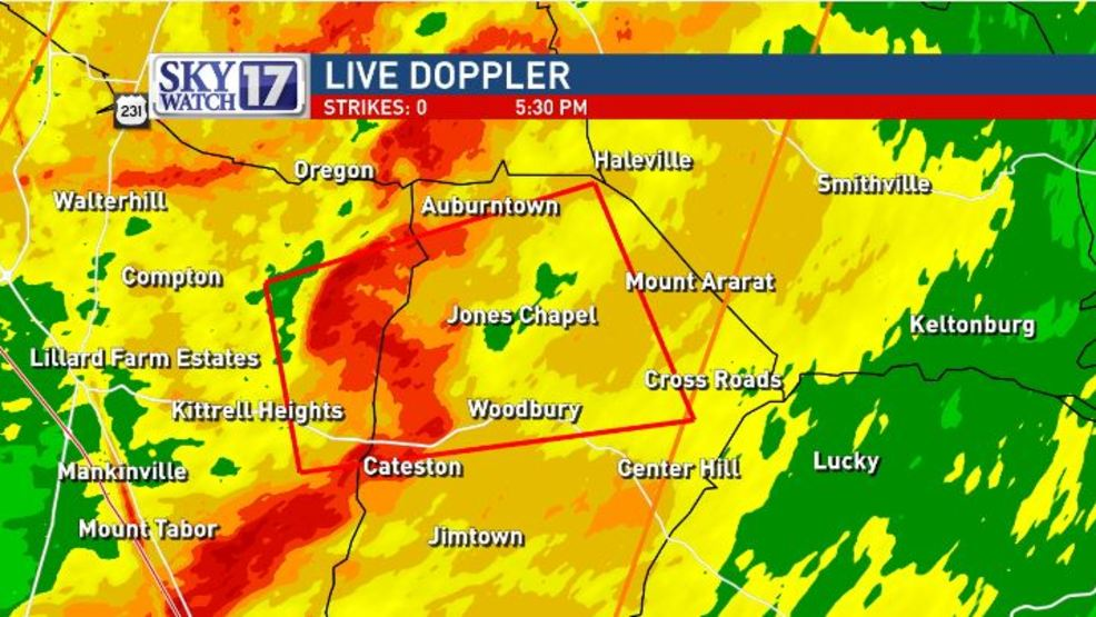 Tornado Warnings Issued In Middle Tennessee Wztv