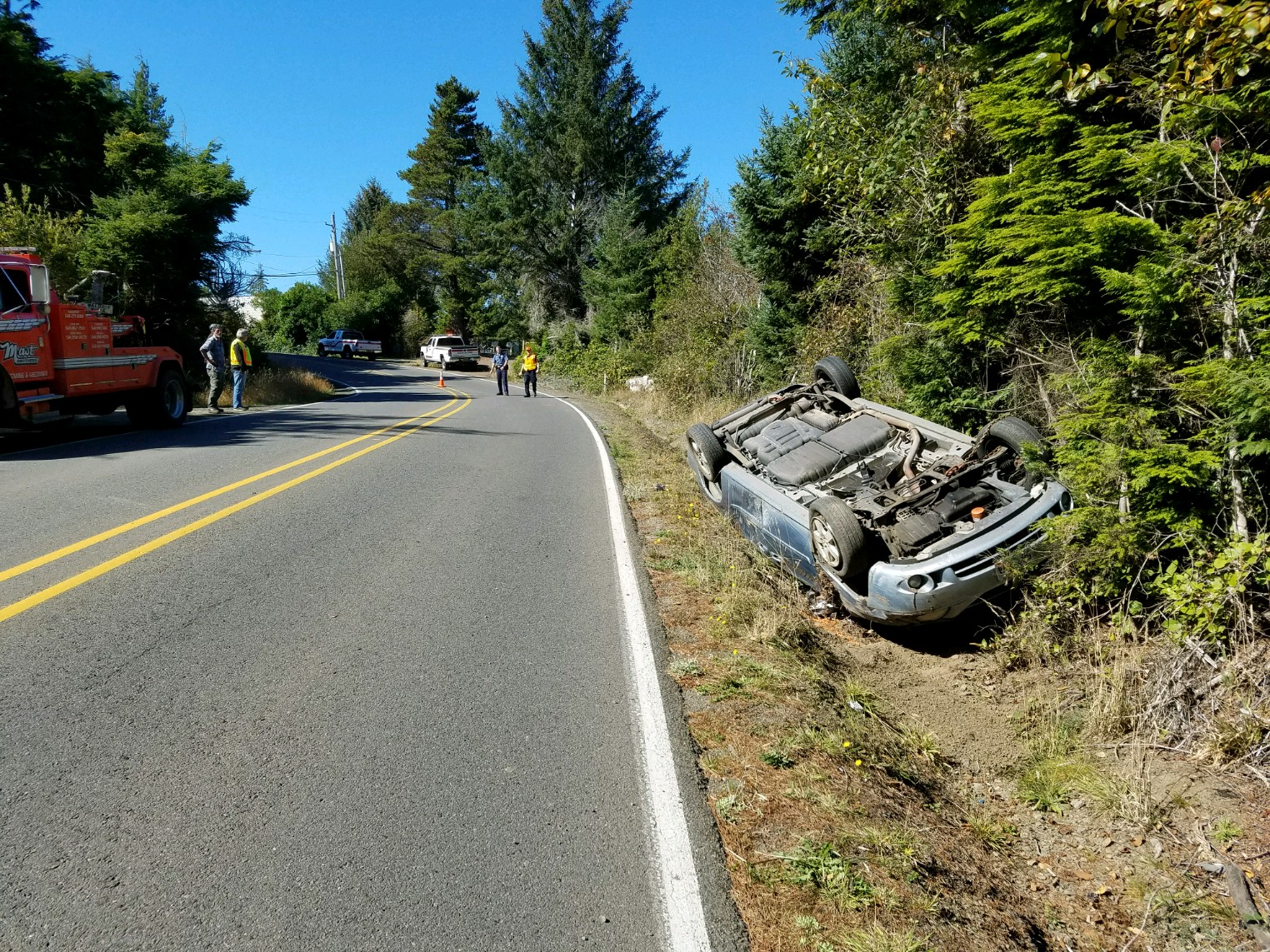 Crash scene (Coos County Sheriff's Office photo)<p></p>