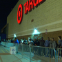 Hundreds of people spent Thanksgiving waiting in long lines