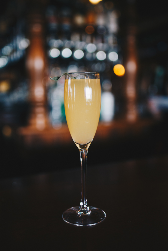 Grapefruit and sage mimosa / Image: Catherine Viox // Published: 5.4.18