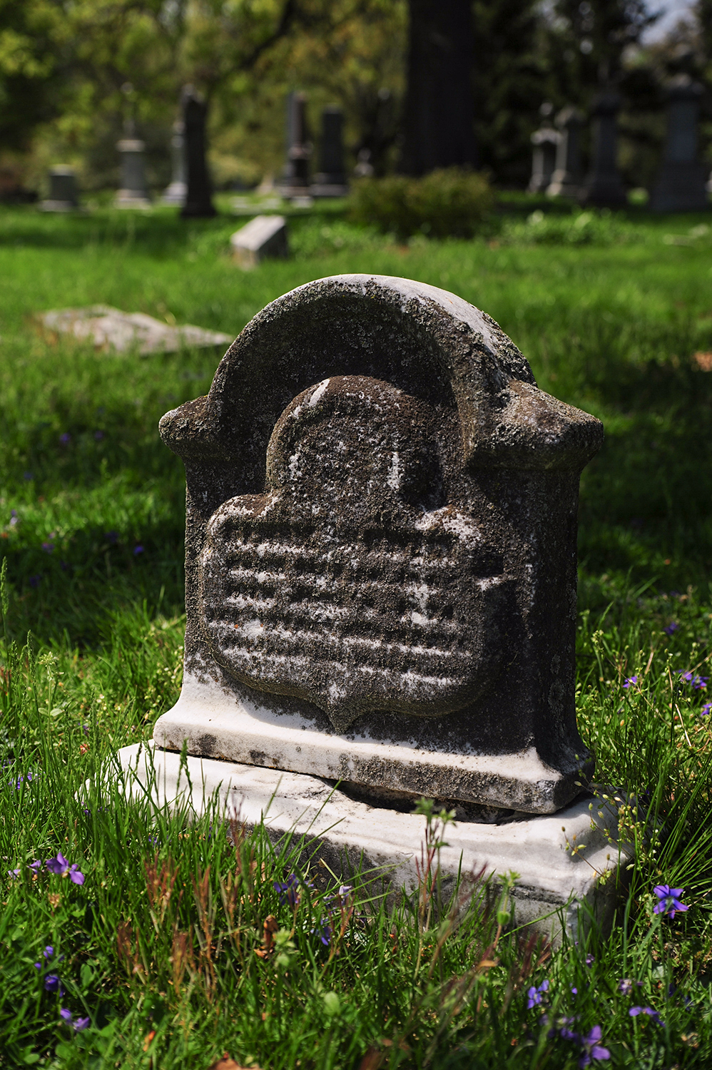 A weathered headstone in Spring Grove & Arboretum / Image: Melissa Doss Sliney