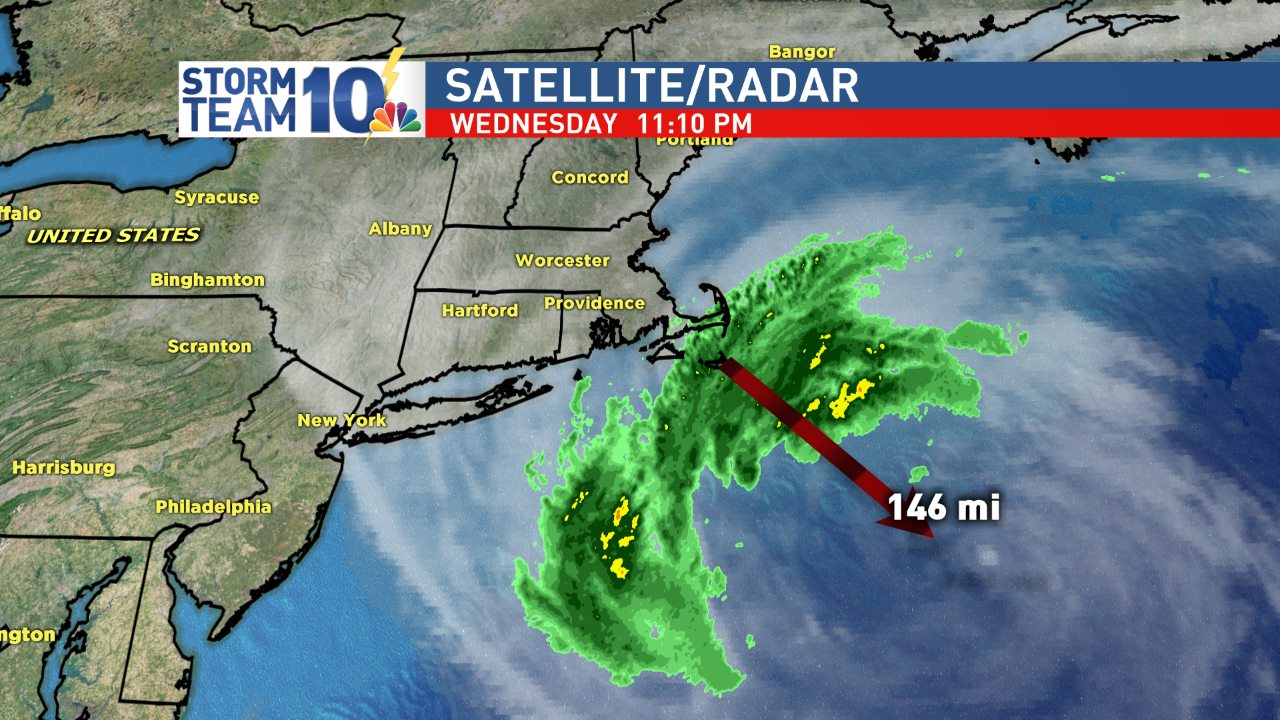 T.S. Jose about 145 miles SE of Nantucket