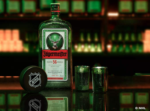 Have you heard?{&nbsp;}Jägermeister is now an an official partner of the NHL.{&nbsp;} (Image: Courtesy NHL)<p></p>