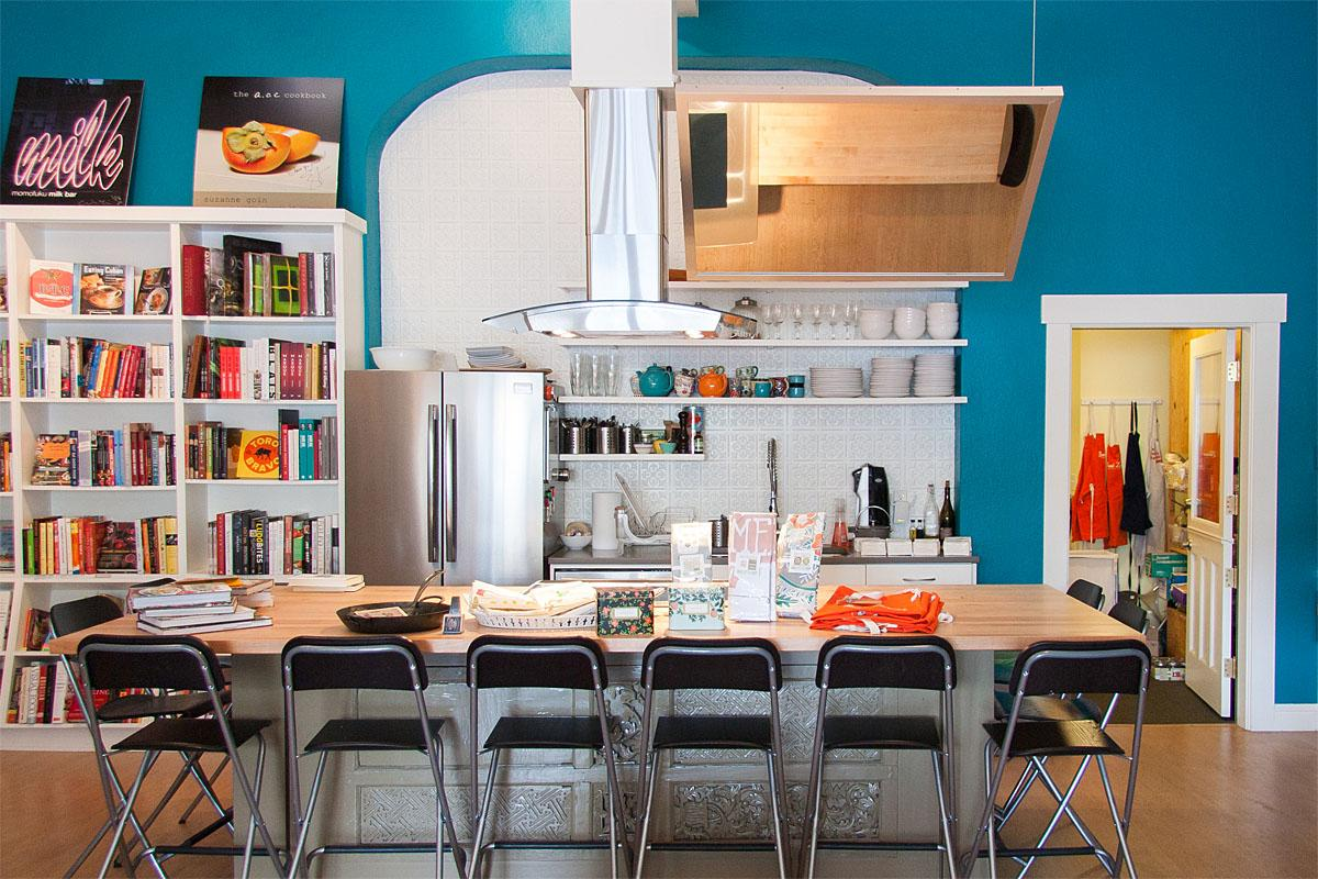 Inside Book Larder you'll find beautiful cookbooks, classes, and even a pop-up bakery from time to time. (Image: Melanie Biehle/Seattle Refined)