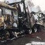 Firefighters put out blaze on Toll Road after a semi caught fire