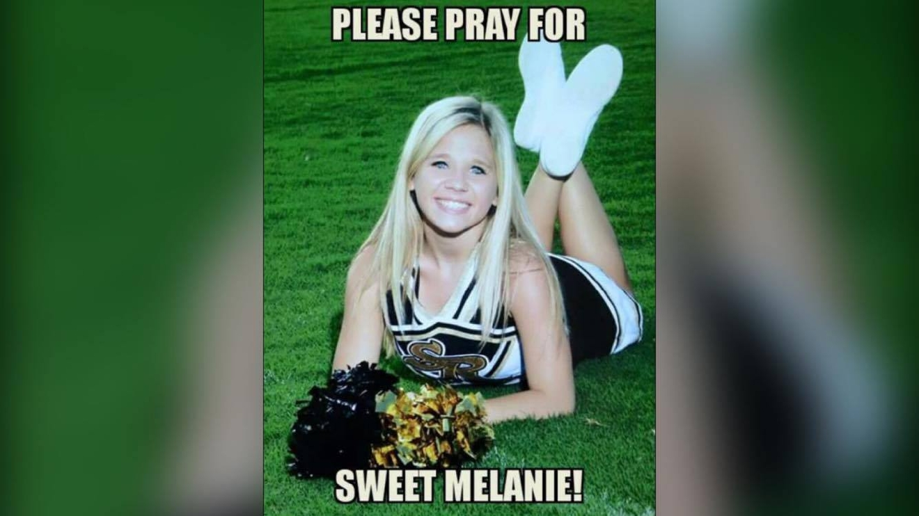 A poster has been going around Facebook with the words 'Pray for Melanie' on it (Katie Brooke)