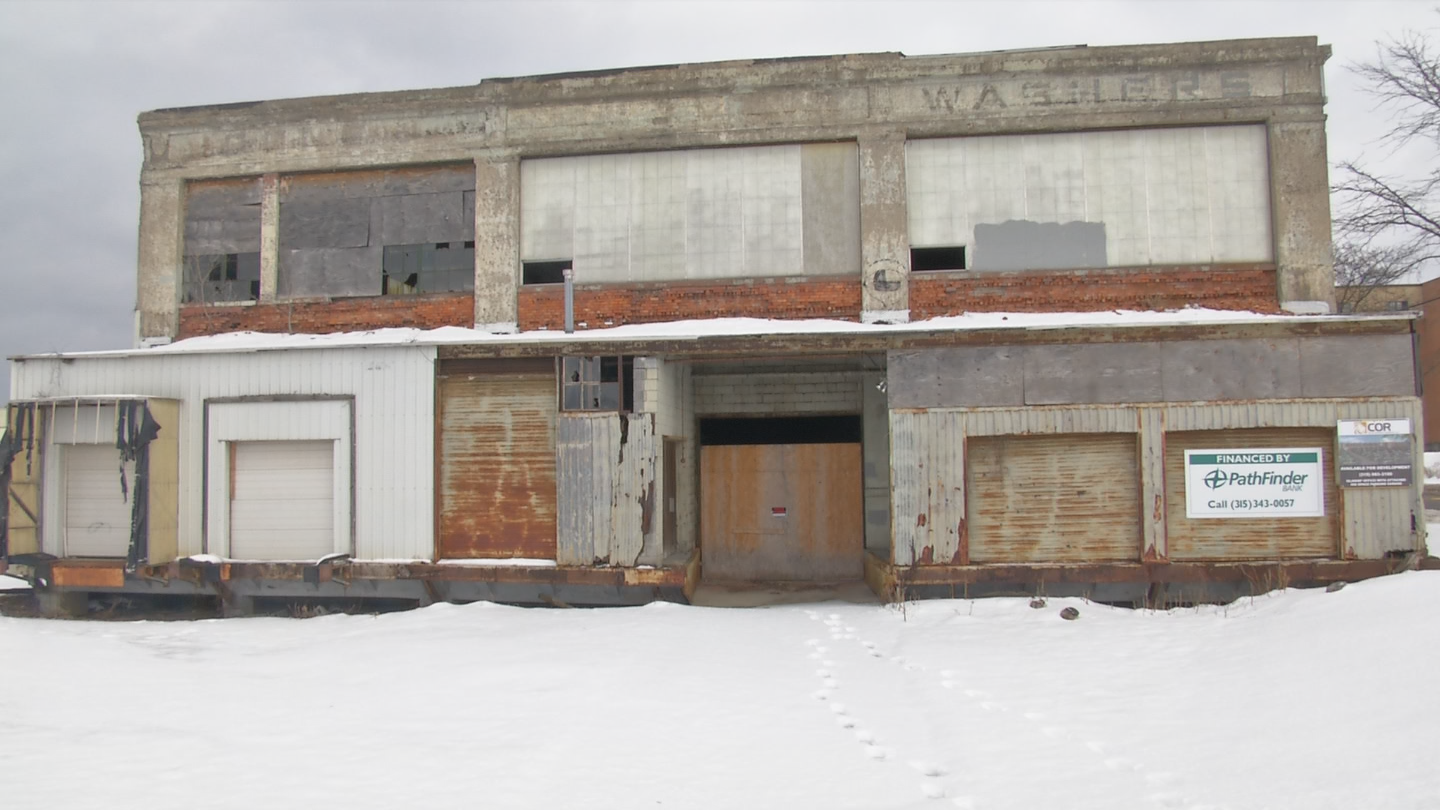 Built in 1953 by the Easy Washing Machine Company of Syracuse. The building has sat vacant since the late 90's. (Brett Hall/CNYCentral){&amp;nbsp;}<p></p>