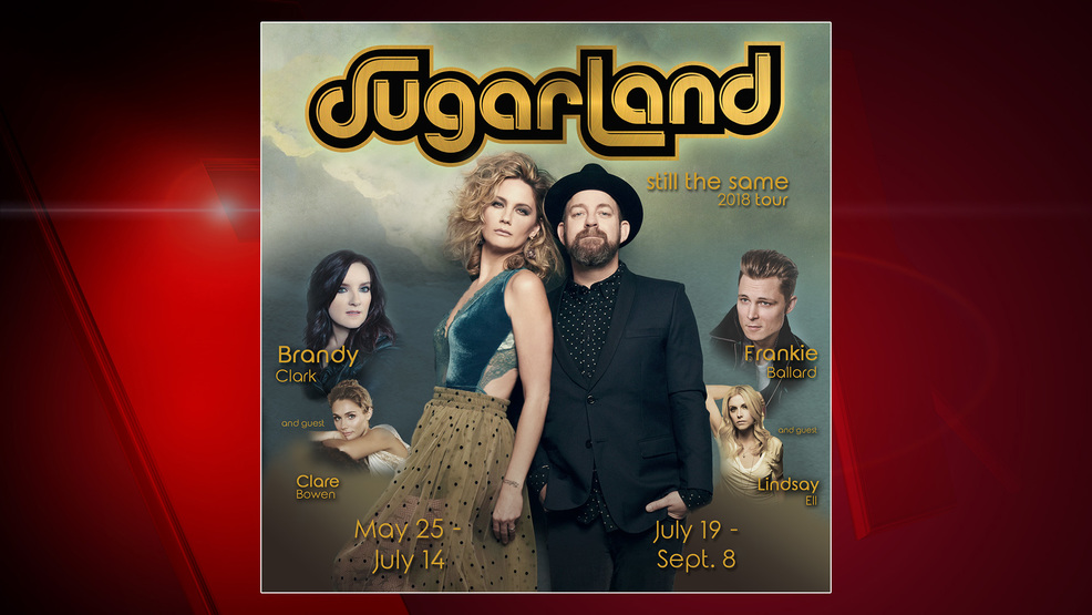 Sugarland promotional tour graphic