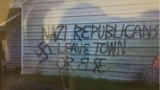 NC GOP office damaged by fire, graffiti saying 'Nazi Republicans leave town or else'