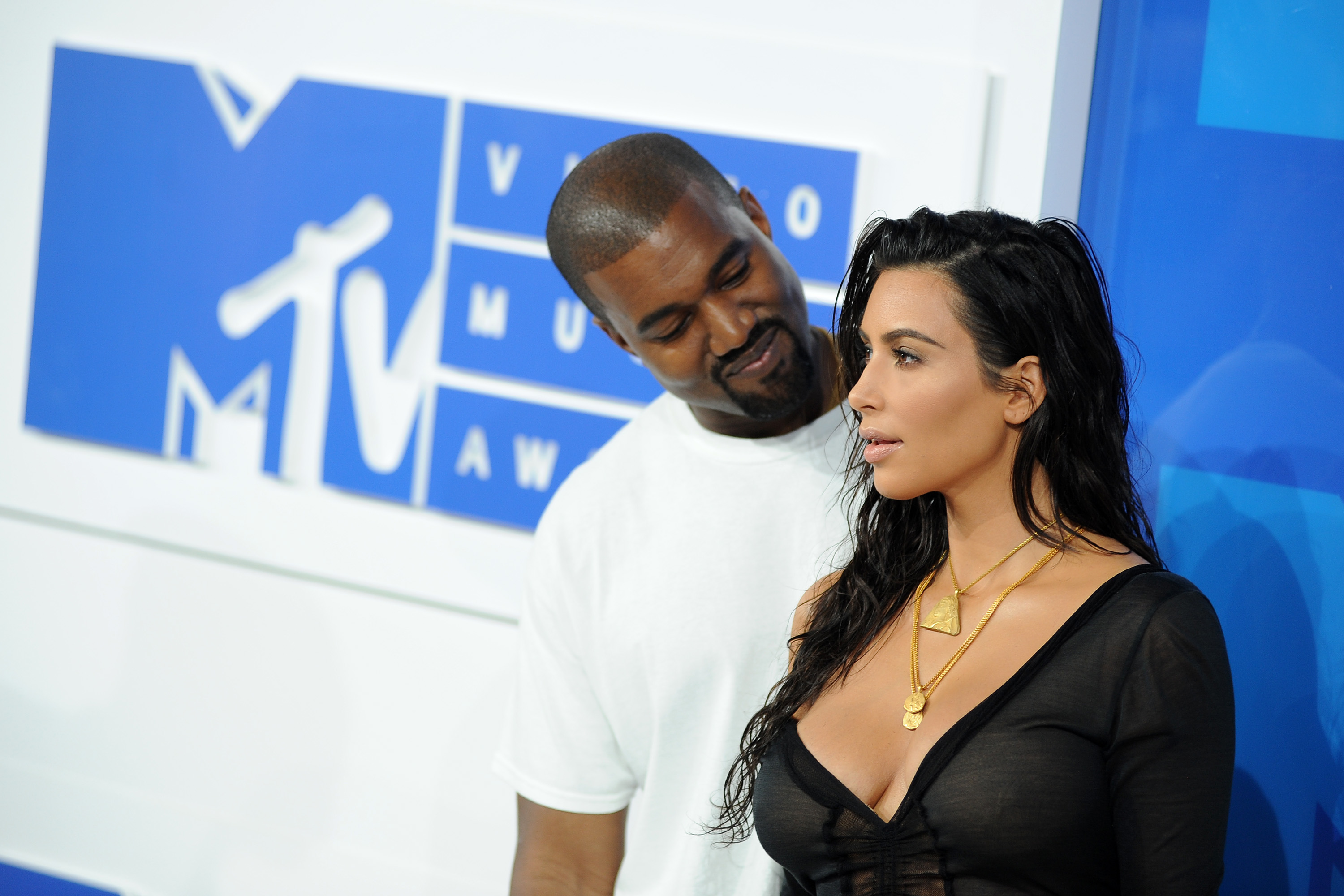 2016 MTV Video Music Awards - Red Carpet Arrivals  Featuring: Kanye West, Kim Kardashian Where: New York, New York, United States When: 29 Aug 2016 Credit: Ivan Nikolov/WENN.com
