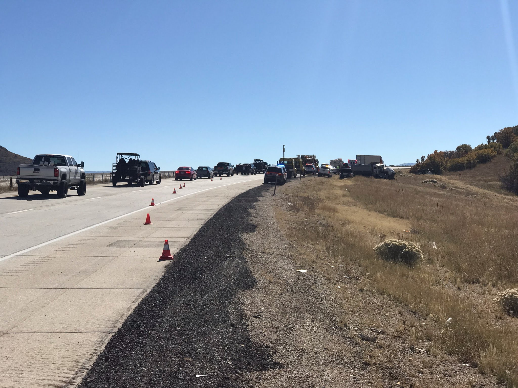 Utah Highway Patrol is responding to a crash with multiple fatalities after a semi and a Jeep collided on state Route 40 at mile marker 10 in Wasatch County.  (FILE Photo: Mike Fessler / KUTV)