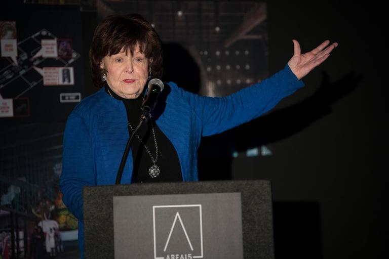 Las Vegas Councilwoman Lois Tarkanian speaks during an event announcing the establishment of Area 15, a curated retail, dining and immersive entertainment venue, Thursday, January 18, 2018. CREDIT: Sam Morris/Las Vegas News Bureau