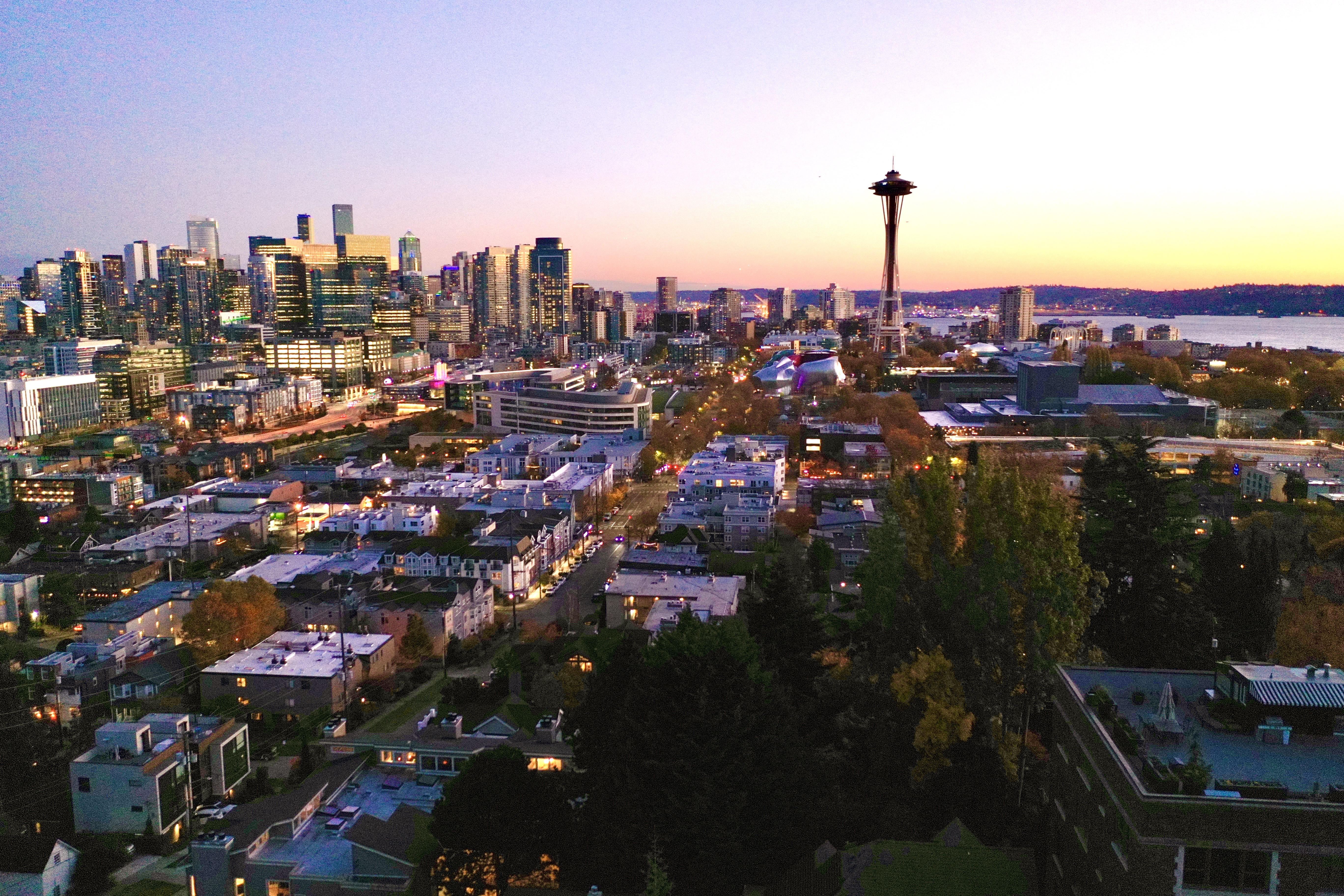 Breathtaking views of Seattle and the Space Needle.