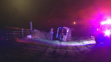 One person in critical condition after an early-morning vehicle rollover