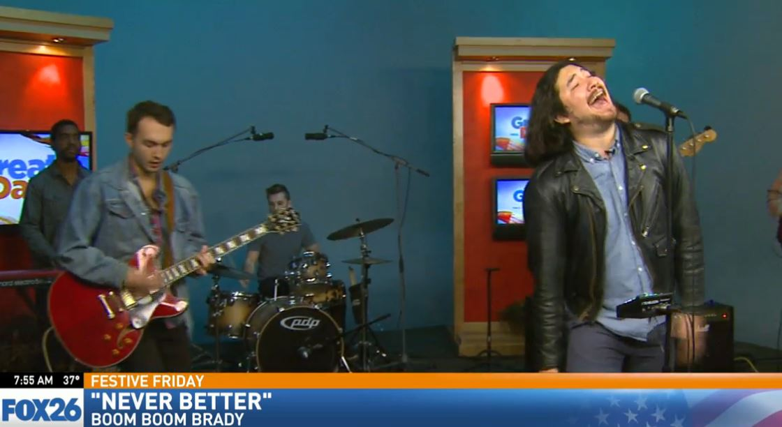 The local Blues / Rock band, Boom Boom Brady, performed in Great Day's Studio B for Festive Friday