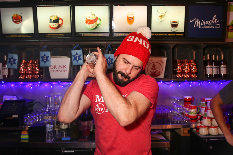 The biggest miracle at the Miracle on 7th Street pop up bar? The beards. (Amanda Andrade-Rhoades/DC Refined)