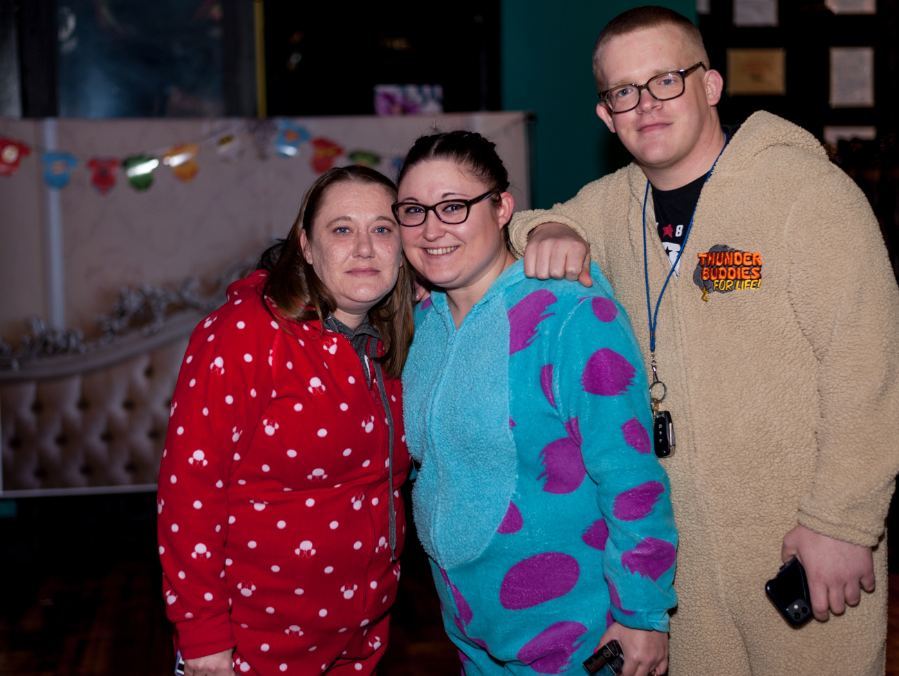 The Onesie Bar Crawl, hosted by Crawl With Us, was held on Saturday, January 18. The crawl took onesie-wearers through Downtown and Over-the-Rhine. Stops included Below Zero Lounge, Fiery Hen, Holiday Spirits, Mr. Pitiful's OTR, and Queen City Exchange. An after-party was held at Fiery Hen later in the night. / Image: Kellie Coleman // Published: 1.19.20