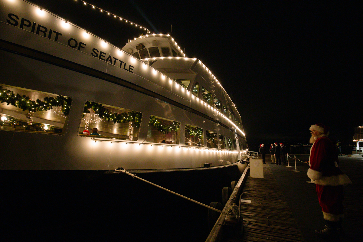 most of us are used to seeing the annual christmas ships from the shore and