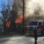Apartment building fully engulfed in flames on NW Side