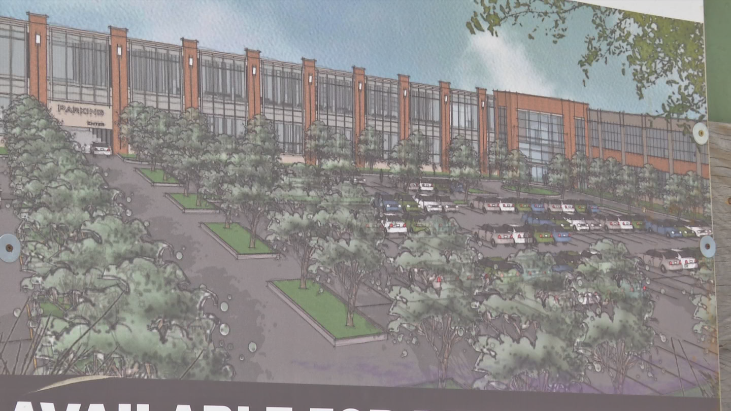 A rendering of COR Developments proposal for the property. (Brett Hall/CNYCentral)<p></p>
