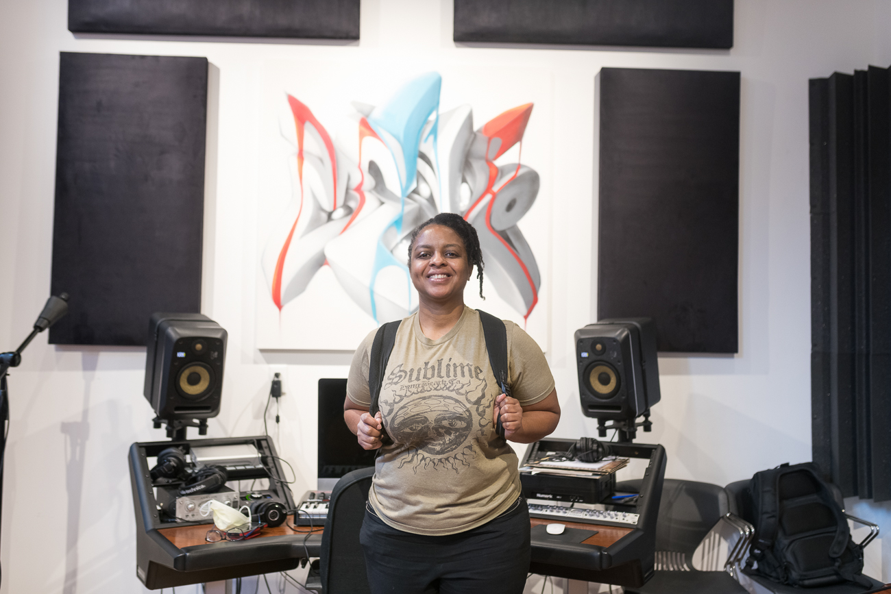 Apryl Reign, DJ instructor and Manager of Programming & Evaluation / Image: Kevin Watkins // Published: 8.20.20