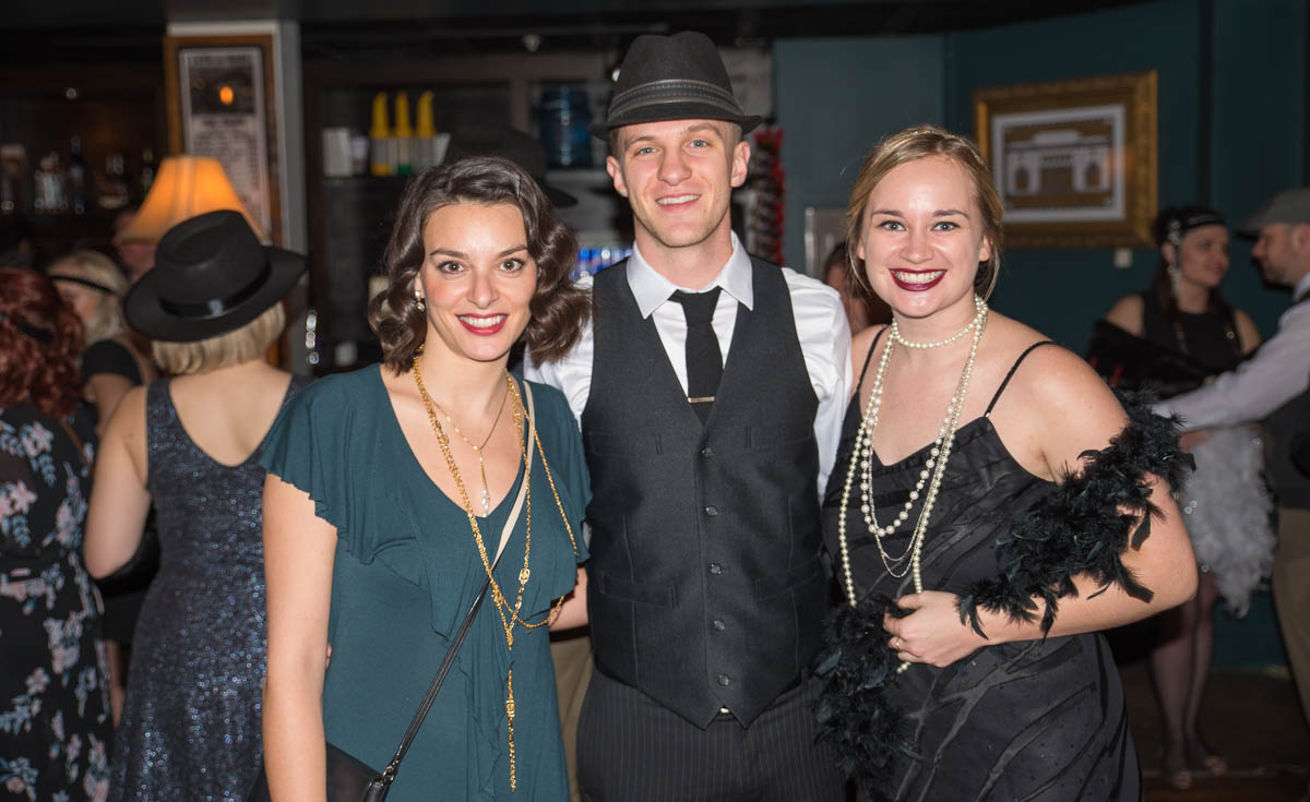 Pictured: Lindsey Roy, Michael Roy, and Annie Devaney / Event: Prohibition Party at The Woodward (Feb. 10) / Image: Sherry Lachelle Photography // Published: 3.3.18