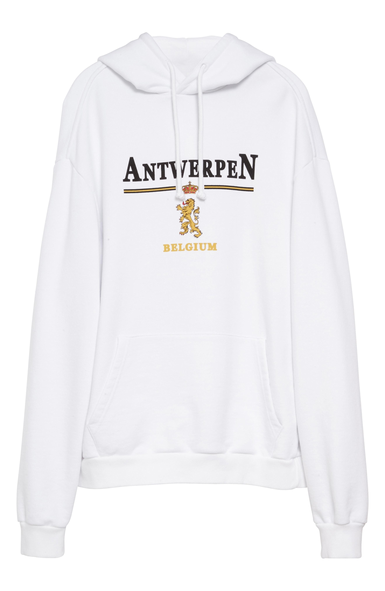 Vetements Signature Hoodie White - $865. Get it at nordstrom.com/space. (Image: Nordstrom)