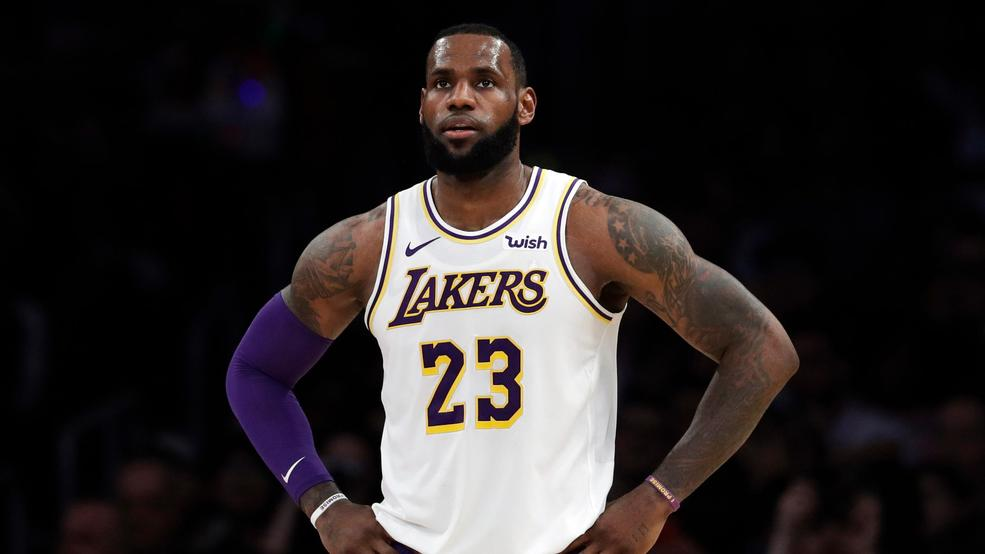 23 2018 File Photo Los Angeles Lakers LeBron James Stands During The First Half Of An NBA Basketball Game Against Memphis Grizzlies In