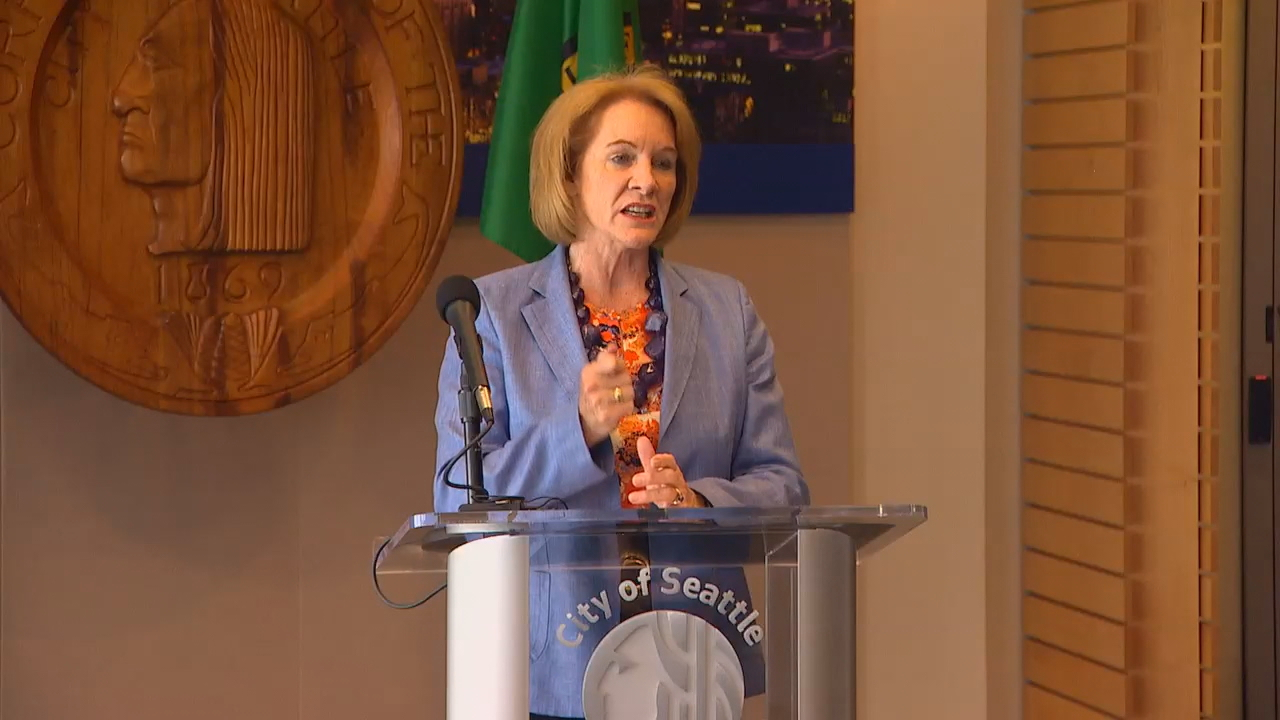 """This was a tough debate. Not just here at City Hall, but all across this city,"" Durkan said at a news conference Monday evening. ""No one is saying that this will solve everything, but it will make a meaningful difference."" (Photo: KOMO News)"