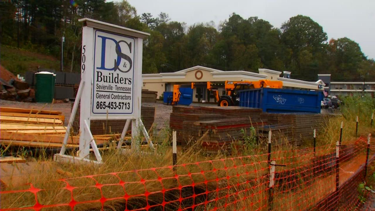 """What is being built on Tunnel Road in east Asheville next to the Best Western?"" Greg Philips wrote Ask 13 in an email. (Photo credit: WLOS staff)"