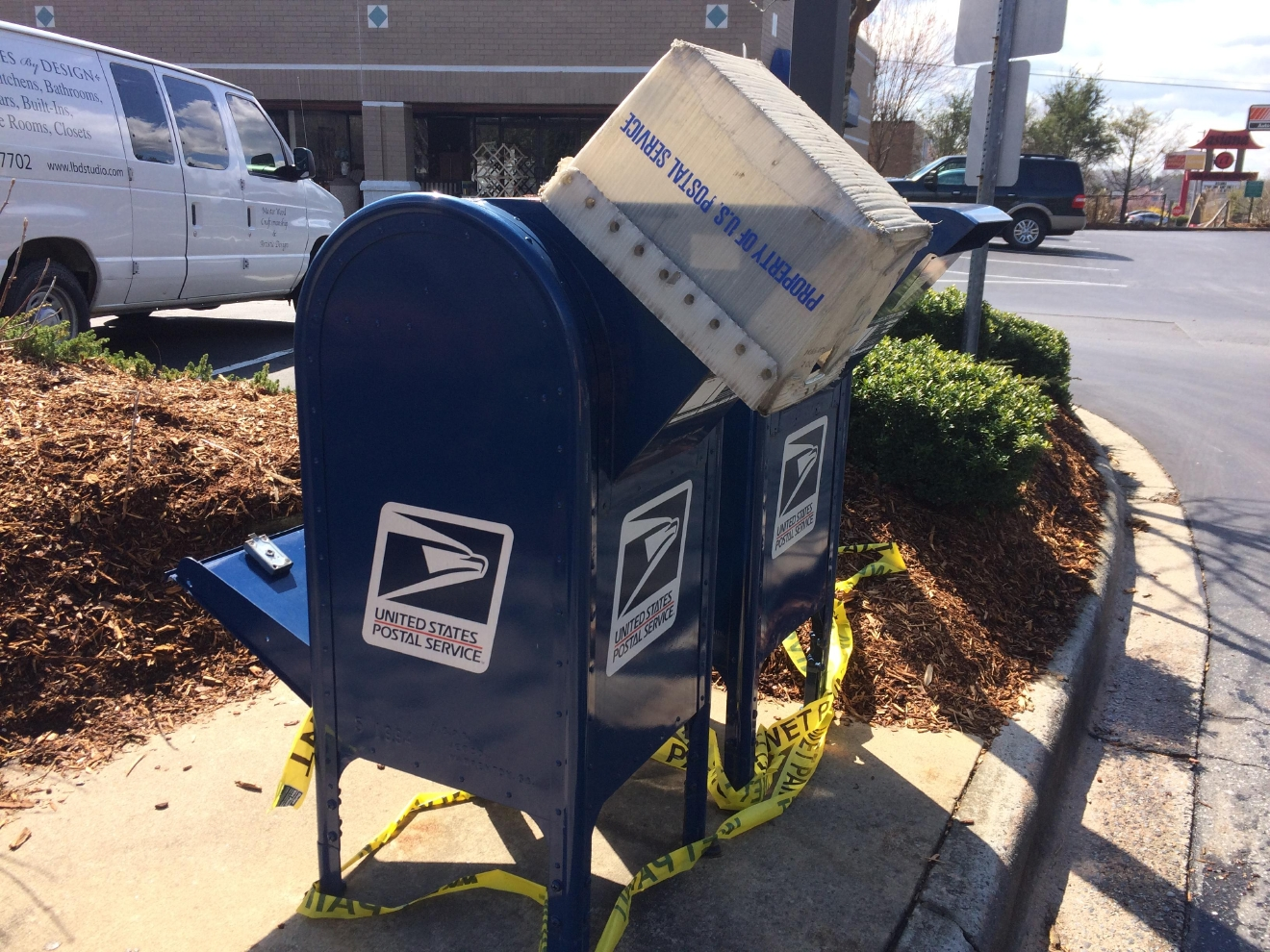 Vandals broke into at least three postal services blue curbside mailboxes in Buncombe and Henderson counties and failed to get into a fourth.  Source: WLOS Staff