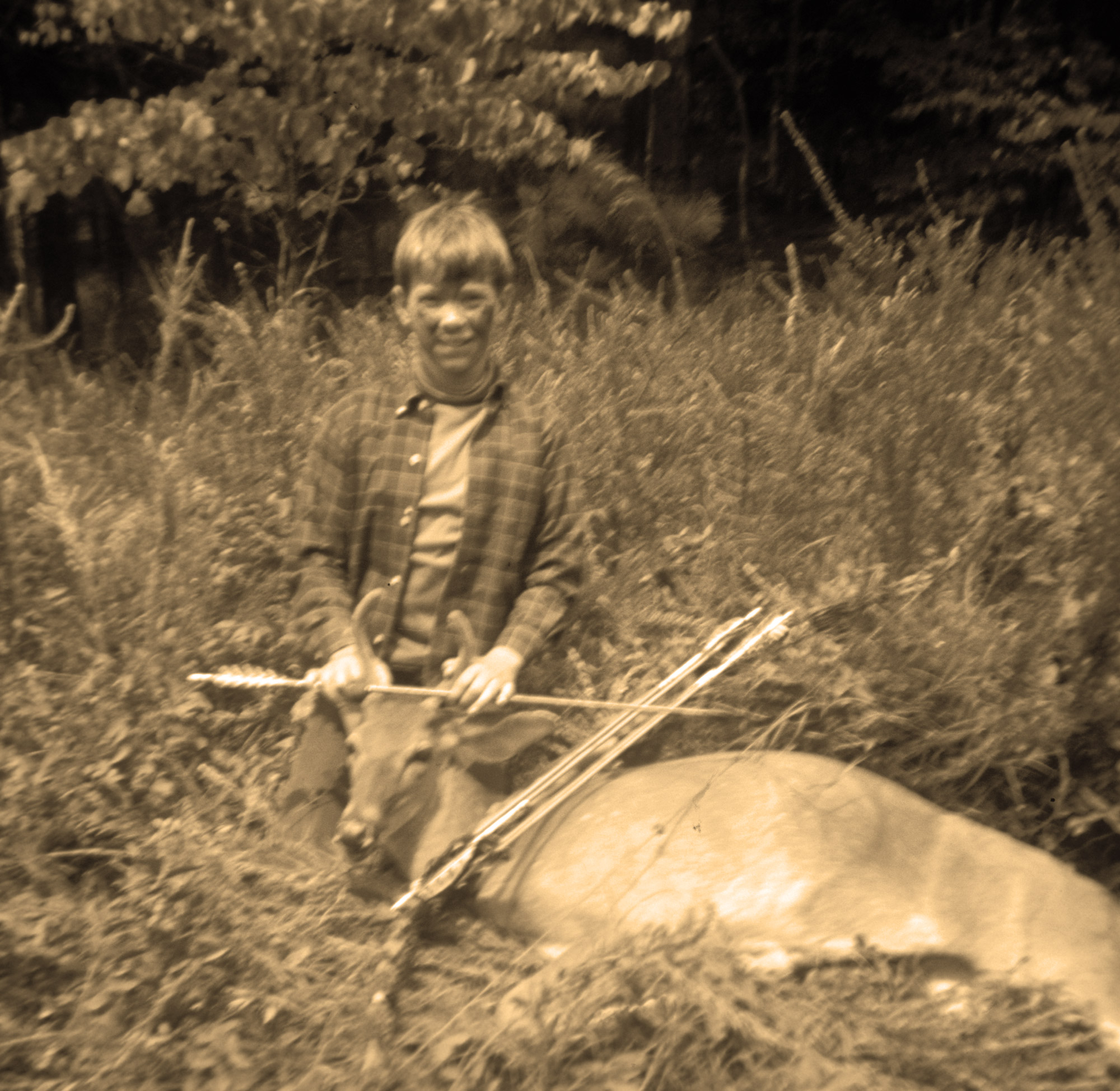 "In 1967 NewsChannel 9 Outdoor Editor Richard Simms took his first deer. In the day it was unusual for any youngsters to take a deer, especially with a bow & arrow. Simms made the front page of the former Chattanooga Times newspaper sports section, courtesy outdoor writer Dan Cook (deceased). (Photo: Robert ""Bob"" Simms)"