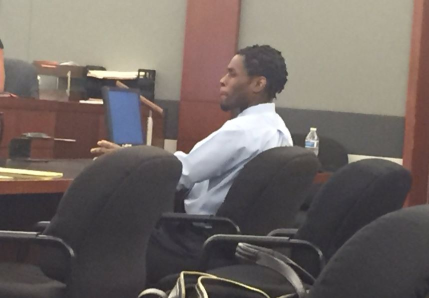 Bryan Clay appears in court Tuesday, October 31, 2017, for his trial at the Regional Justice Center in Las Vegas. (Denise Rosch/KSNV)