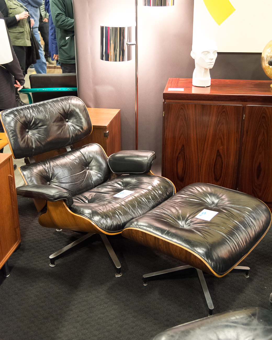 An{ }Eames Lounge Chair, first popularized in 1956 / Image: Cincinnati Refined // Published: 2.24.19
