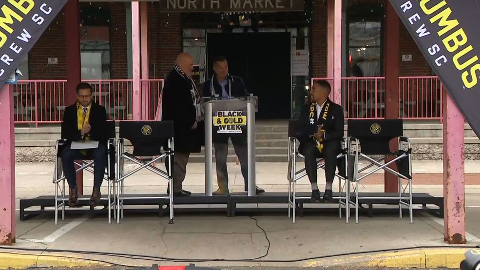 Crew SC host proclamation at North Market to kick off Black & Gold week