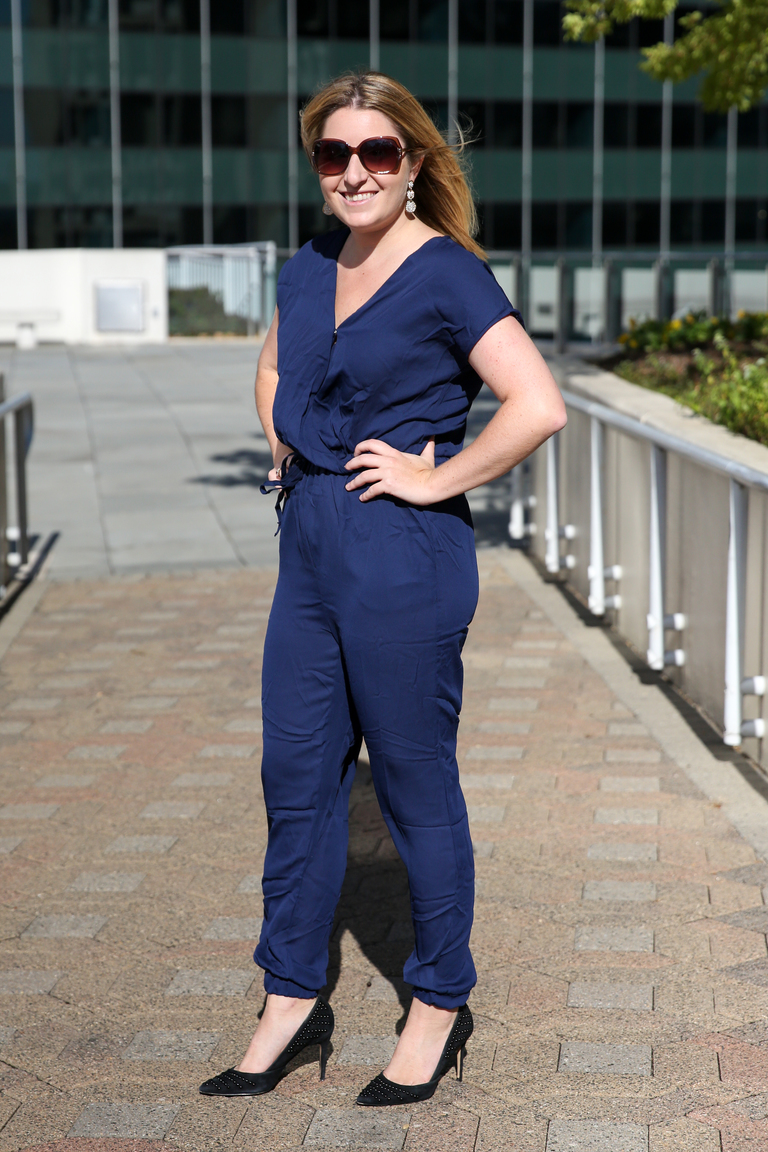 Laura in the jumpsuit (Amanda Andrade-Rhoades/DC Refined)<p></p>