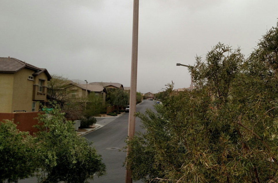 Summerlin area with no mountain visibility (Chris Erickson | KSNV)