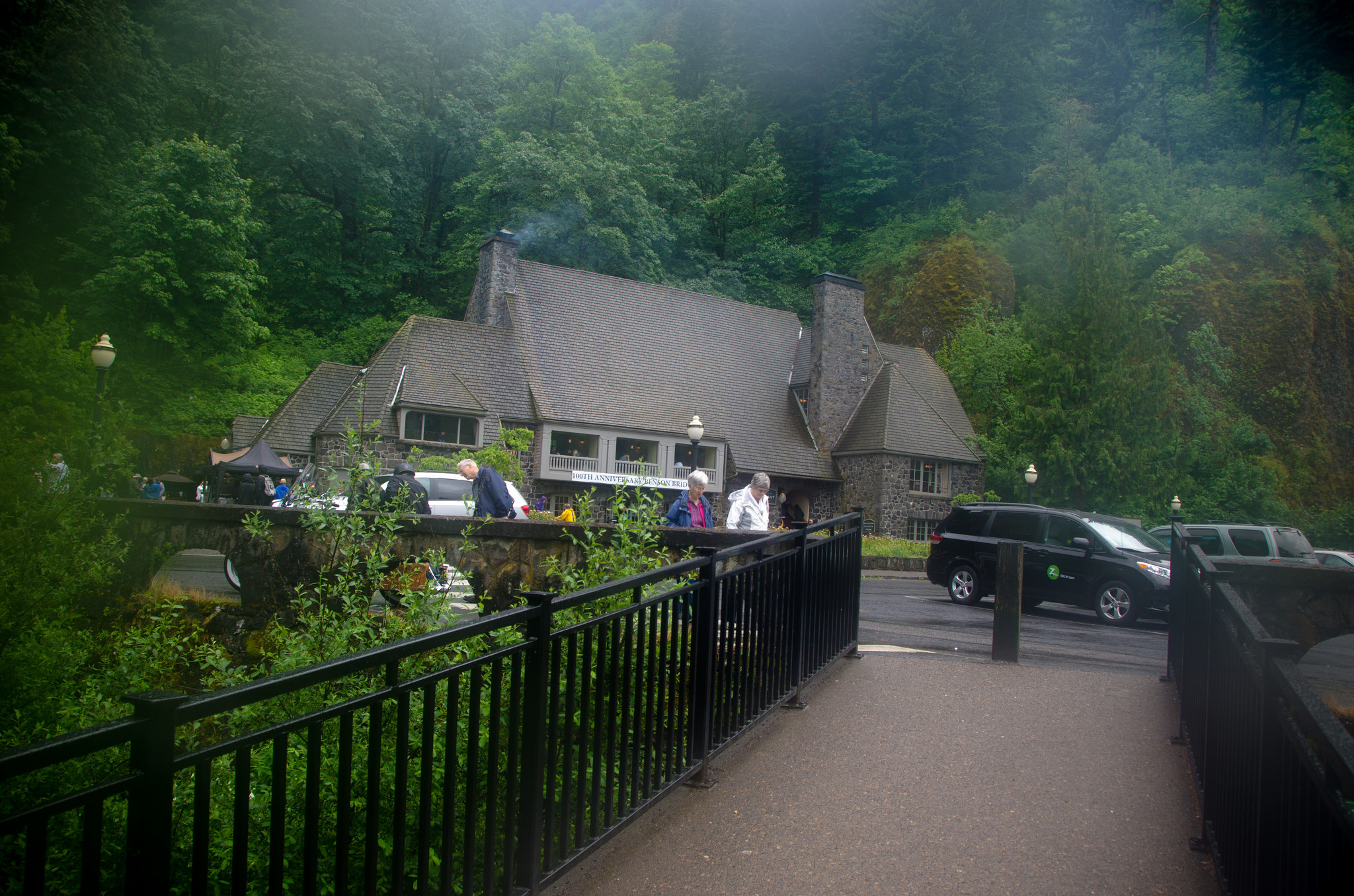 The fast-growing Eagle Creek Fire is threatening several historic sites and natural wonders in the Columbia River Gorge, including the Eagle Creek Campground - the oldest developed campground in the United States. (US FOREST SERVICE PHOTO)