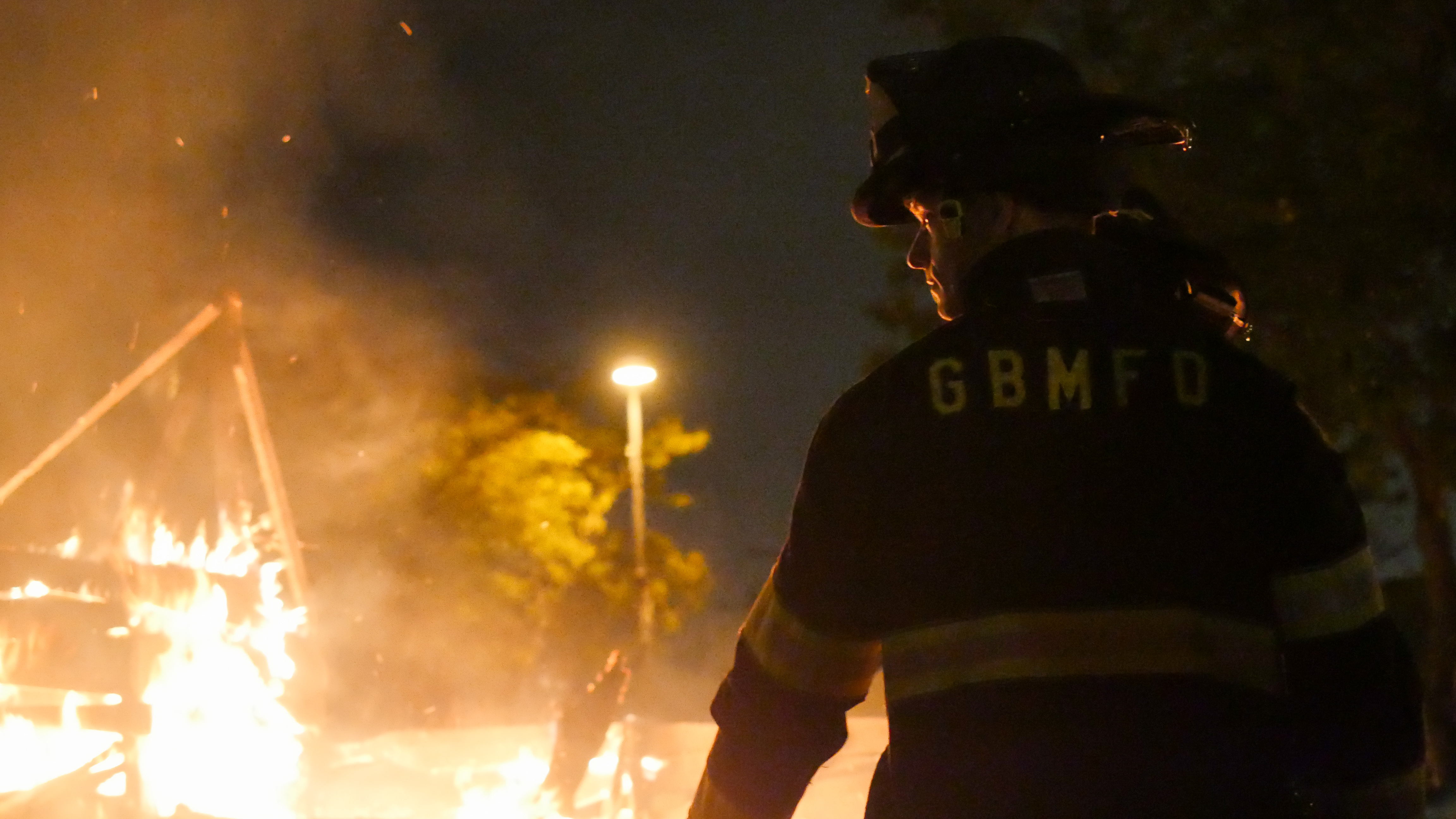 Green Bay Metro Fire Department assisting with a controlled burn at the IgNight Market, Saturday, September 21, 2019 (WCWF/ Beni Petersen)