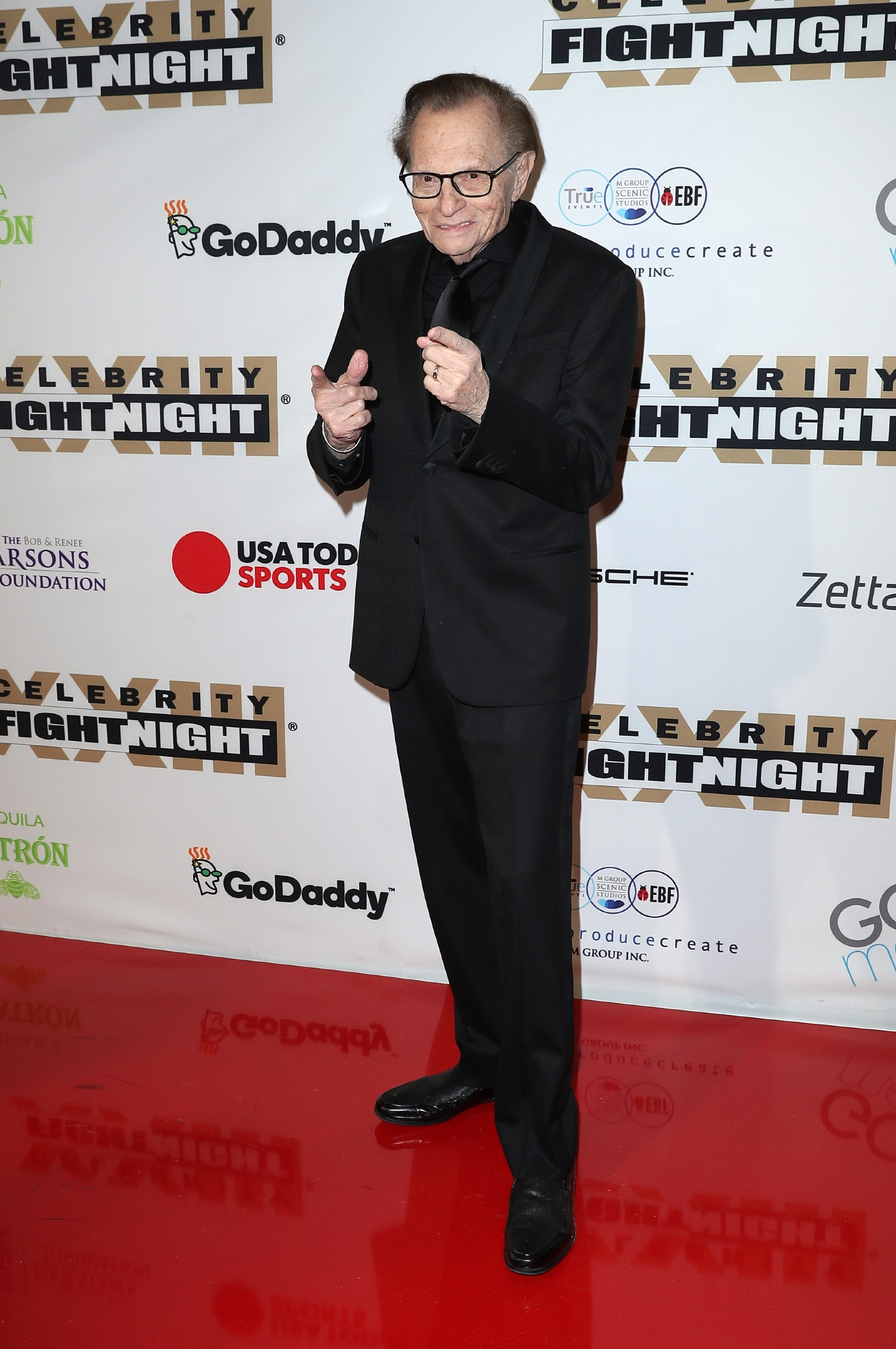 Larry King arrives at Muhammad Ali's Celebrity Fight Night at JW Marriott Desert Ridge Resort & Spa in Phoenix, Arizona, March 18, 2017. (Credit: Judy Eddy/WENN.com)
