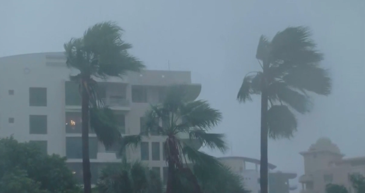 Officer suspended for calling in sick during Hurricane Irma. (WPEC)