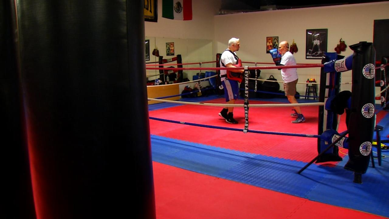 American Top Team Asheville is helping Parkinson patients fight back against the disease through a program called Rock Steady Boxing. It's a world wide program that aims to slow down the progression. (Photo credit: WLOS Staff)