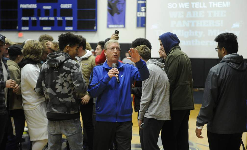 South Medford Pep Rally for the Panther Football Team playing in the OSAA 6A State Championship Game Saturday at Oregon State University in Corvallis. - Andy Atkinson