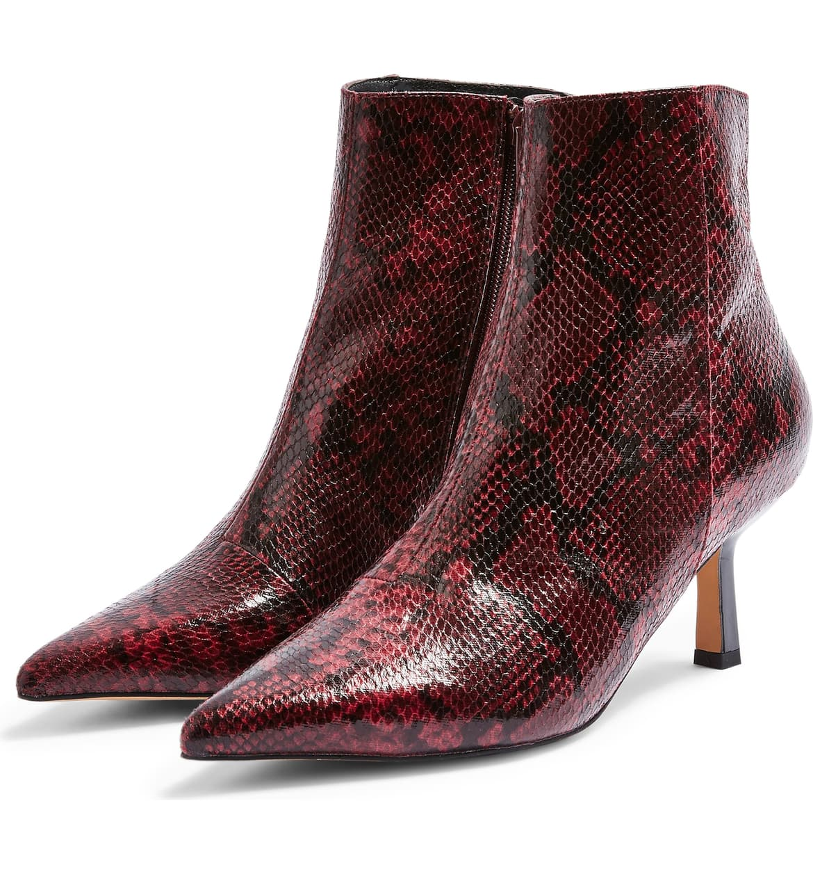 Snake skin boots for the win! Keep your street style on point with this sharp bootie set on a sleek stiletto heel,{ }$75. (Image: Nordstrom){ }