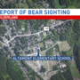 Police responding to reports of a bear sighting at elementary school