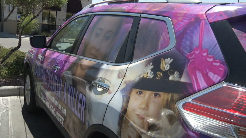 The vehicle is decorated with Brittany's picture{&amp;nbsp;}<p></p>