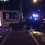 Two children in critical condition after car hits MTA bus