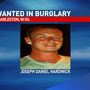 Charleston police searching for burglary suspect