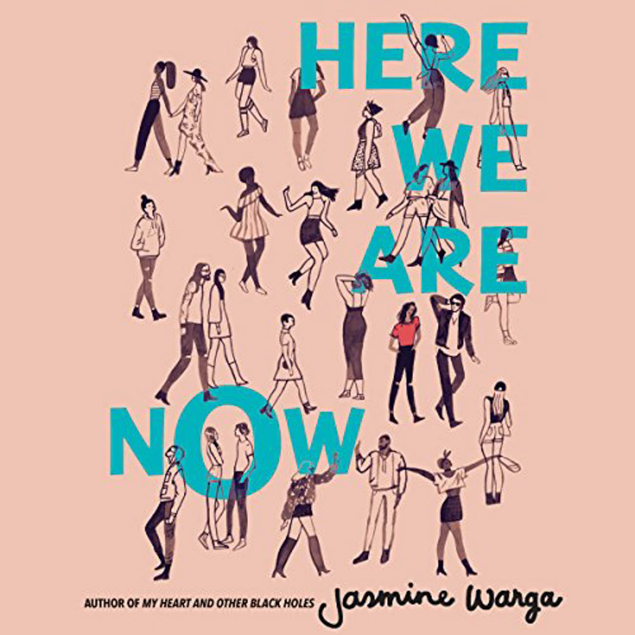 """Here We Are Now"" is a heartwarming YA novel about Taliah Abdallat meeting a rock star she's sent letters to since she was 13 who (to her surprise) turns out to be her dad. / Image courtesy of Audible // Published: 3.23.20"