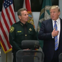 Trump visits victims of Parkland school shooting, Broward County Sheriff's office
